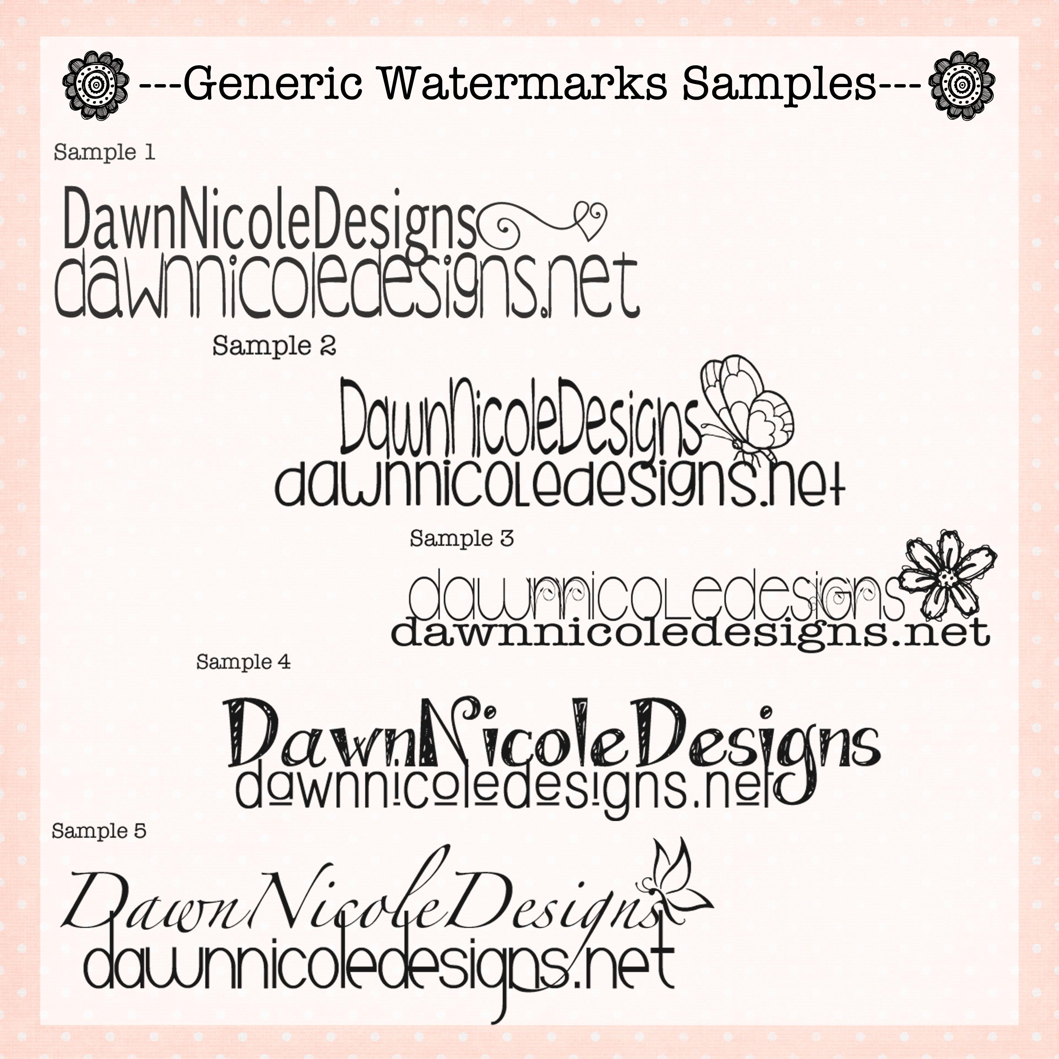 watermarks 4 sale – nicoledesigns